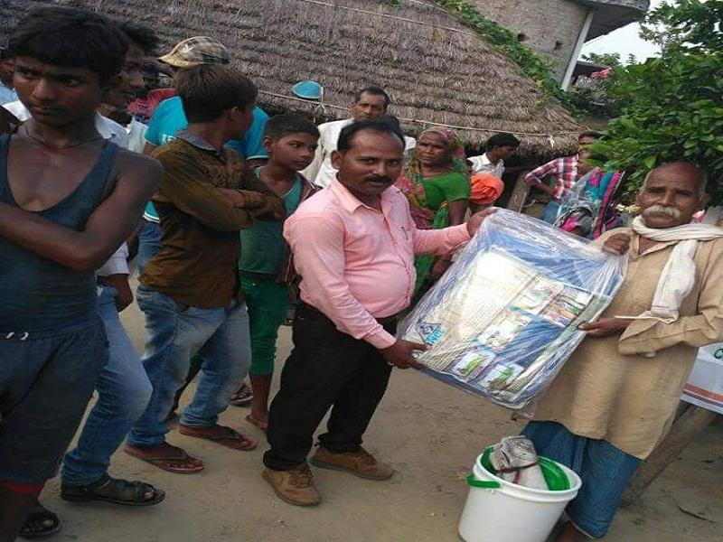 Flood relief material distribution